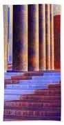 Paris Columns Beach Towel