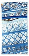 Paris Design In Blue Beach Sheet