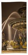 Paris Fountain Beach Towel