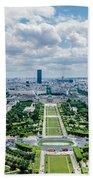 Paris From Above Beach Towel