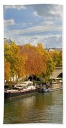 Paris In Autumn Beach Towel