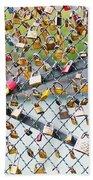 Paris - Locks Of Love Beach Towel