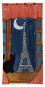 Paris Moonlight Beach Towel