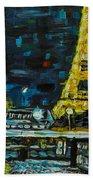 Paris Night Beach Towel