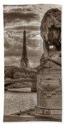 Paris Panorama Beach Towel