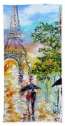Paris Romance Beach Towel