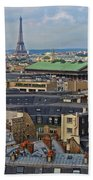 Paris Rooftops Beach Towel