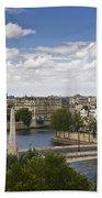 Paris View Notre Dame Beach Towel
