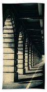 Parisian Rail Arches Beach Towel
