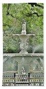 Forsyth Park Fountain - Savannah Georgia Beach Towel