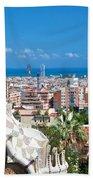 Park Guell Barcelona Beach Towel