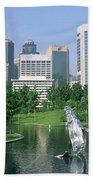 Park In The City, Petronas Twin Towers Beach Towel