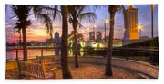 Park On The West Palm Beach Wateway Beach Towel
