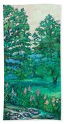 Park Road In Radford Beach Towel