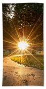Park Sunburst Landscape Beach Towel