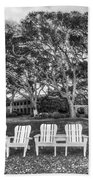 Park Under The Oaks Beach Towel by Debra and Dave Vanderlaan