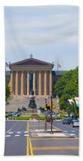 Parkway View Of The Museum Of Art Beach Towel