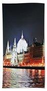 Parliament And The Danube Beach Towel