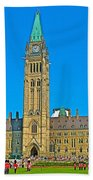 Parliament Building In Ottawa-on Beach Towel