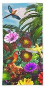 Parrot Jungle Beach Towel