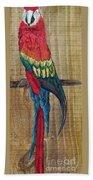 Parrot - Scarlet Macaw Beach Towel