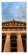 Parthenon From Below Beach Towel by Dan Sproul