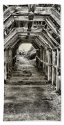 Partington Cove Tunnel By Diana Sainz Beach Towel