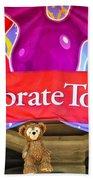 Party Bear Beach Towel