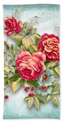 Party Of Flowers  Beach Towel
