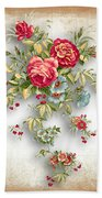 Party Of Roses  Beach Towel