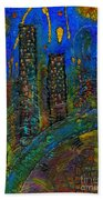 Party Town Beach Towel