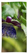 Passion Flower - Ruby Glow Beach Towel