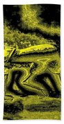 Passion In Grainy Gold Beach Towel