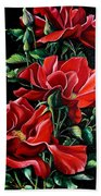 Passionately Red  Beach Towel