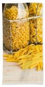 Pasta Shapes Still Life Beach Towel by Edward Fielding
