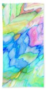 Pastel Abstract Patterns V Beach Towel
