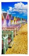 Pastel Beach Huts 2 Beach Towel