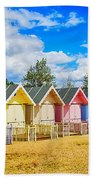 Pastel Beach Huts Beach Towel by Chris Thaxter