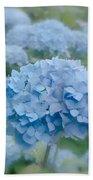 Pastel Blue Hydrangea Beach Sheet
