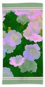 Pastel Flowers II Beach Towel