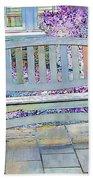 Pastel Patio Beach Towel