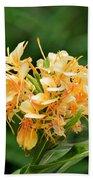 Pastel Peach Petals Beach Sheet