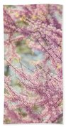 Pastel Pink Flowers Of Redbud Tree In Springtime  Beach Towel by Lisa Russo