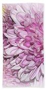 Pastel Pink Mums Beach Towel