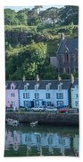 Pastel Rowhome In The Bay Highlands Scotland Beach Towel