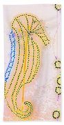 Pastel Seahorse In Lights  Beach Towel