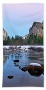 Pastel - Sunset View Of Yosemite National Park. Beach Towel