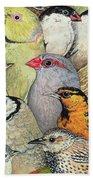 Patchwork Birds Beach Towel