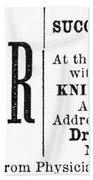Patent Medicine, 1876 Beach Towel