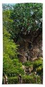 Path Leading To Tree Of Life Beach Towel